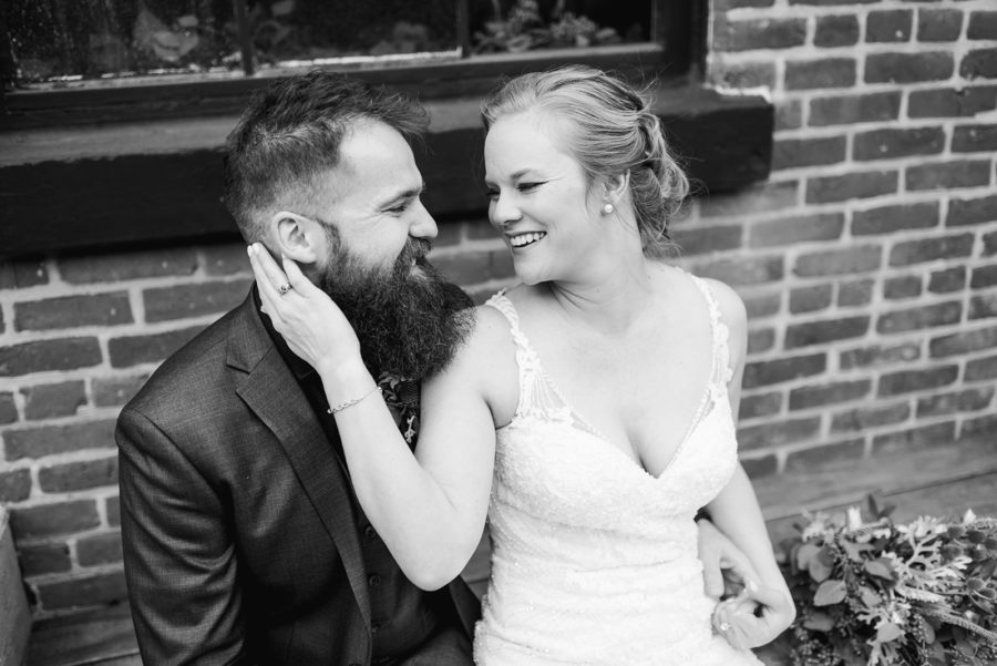 Black and white wedding photography: Nashville wedding at Clementine featured on Nashville Bride Guide