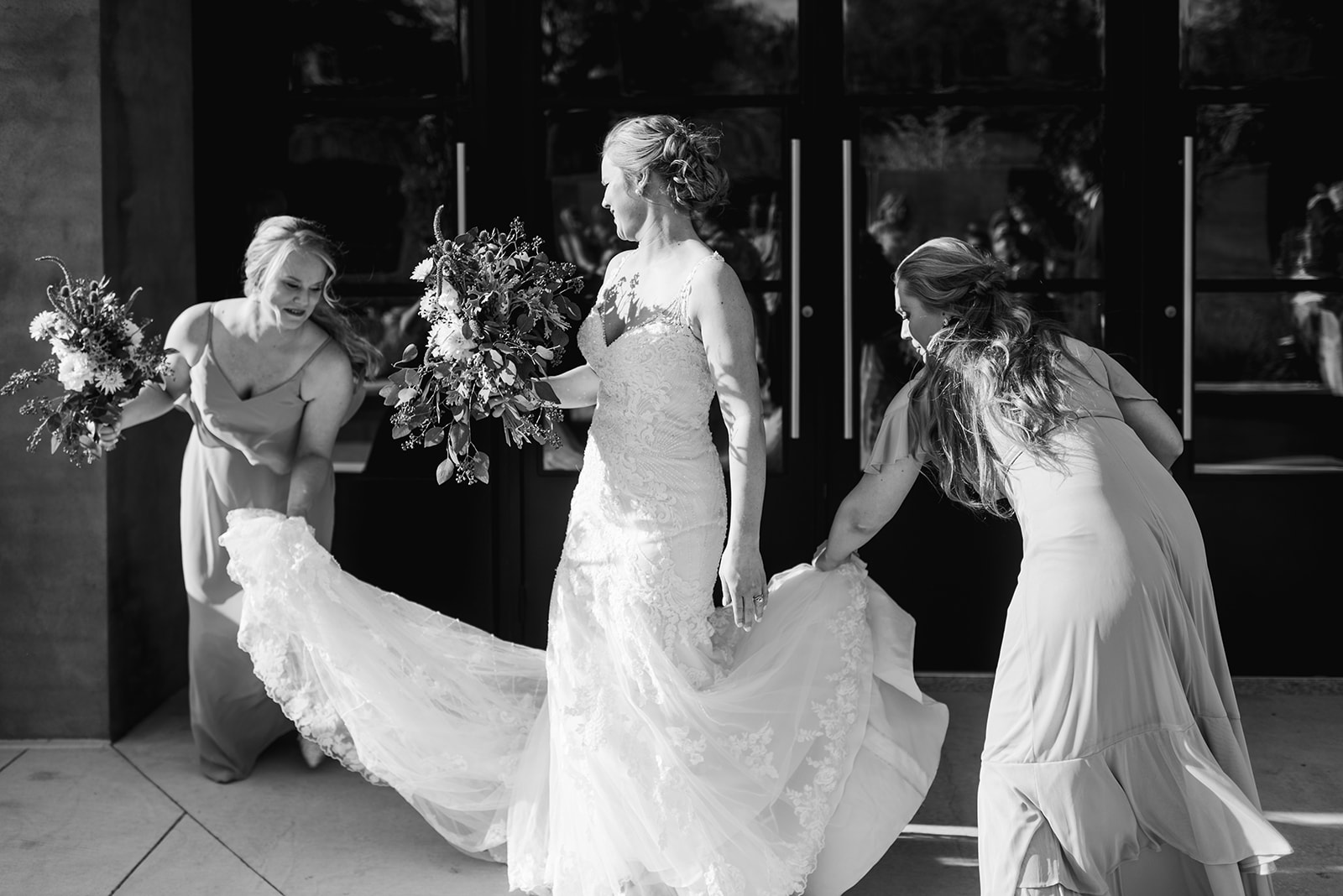 Bridal party photo: Nashville wedding at Clementine featured on Nashville Bride Guide