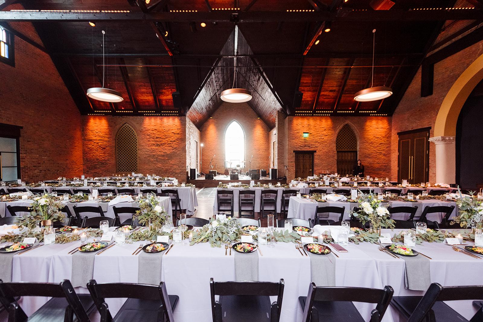Wedding reception decor: Nashville wedding at Clementine featured on Nashville Bride Guide