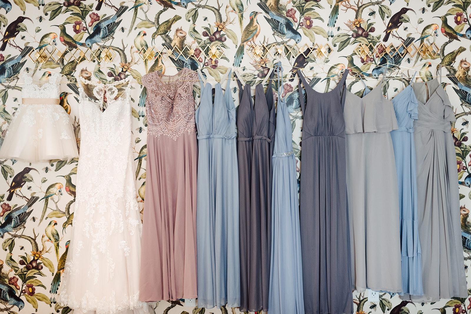 Mismatched Bridesmaid Dresses: Nashville wedding at Clementine featured on Nashville Bride Guide