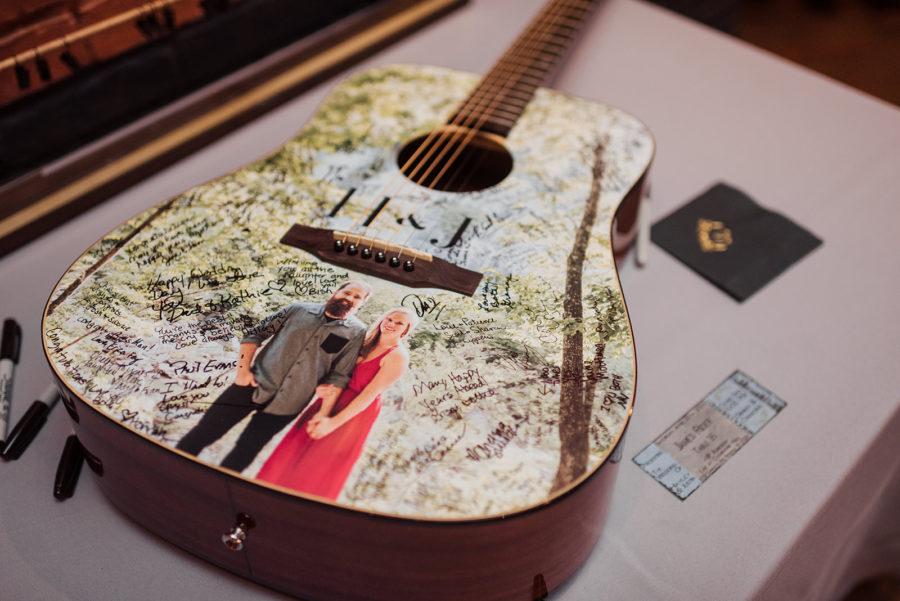 Guitar wedding guestbook: Nashville wedding at Clementine featured on Nashville Bride Guide