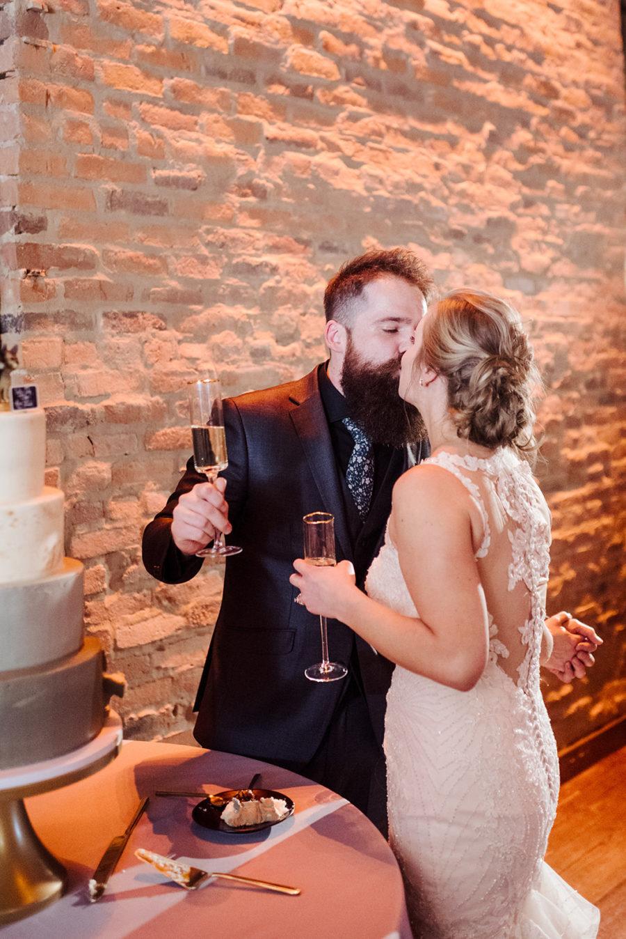 Wedding cake cutting: Nashville wedding at Clementine featured on Nashville Bride Guide