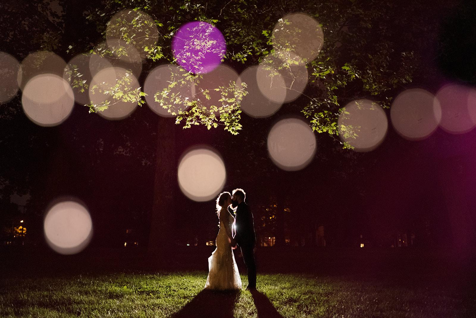Nighttime wedding photo ideas: Nashville wedding at Clementine featured on Nashville Bride Guide