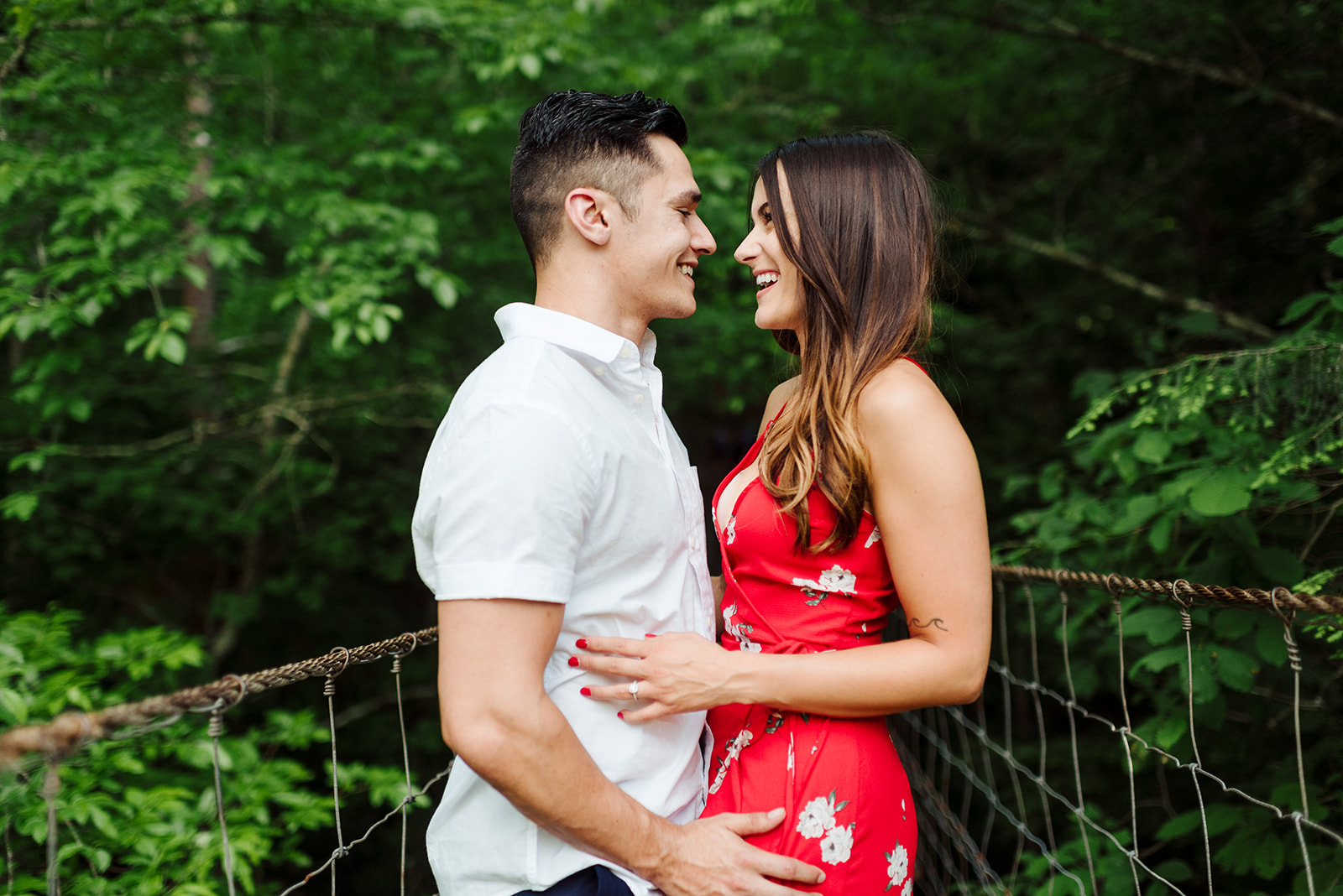 Fall Creek Falls engagement session captured by Sara Bill Photography