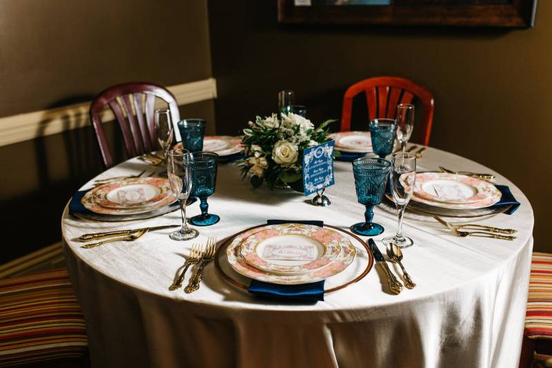 Customize your rehearsal dinner space at Mere Bulles featured on Nashville Bride Guide