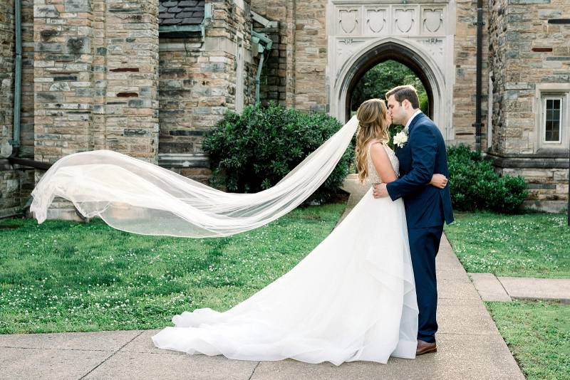 Wedding portrait: Bell Tower Wedding featured on Nashville Bride Guide