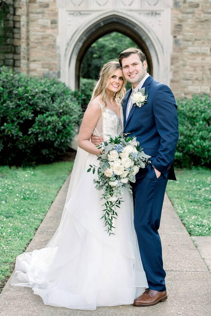 Wedding portrait: Bell Tower Wedding featured on Nashville Bride Guide