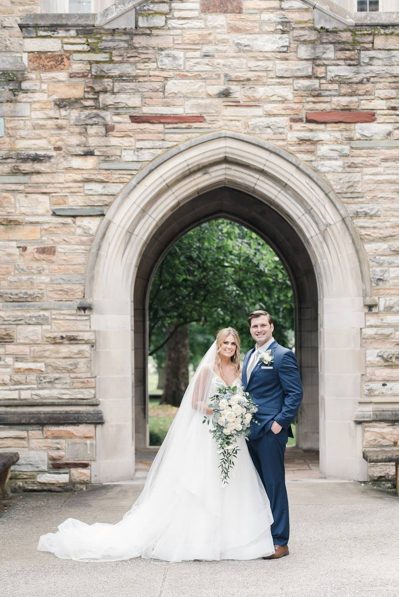 Outdoor wedding photos: Bell Tower Wedding featured on Nashville Bride Guide
