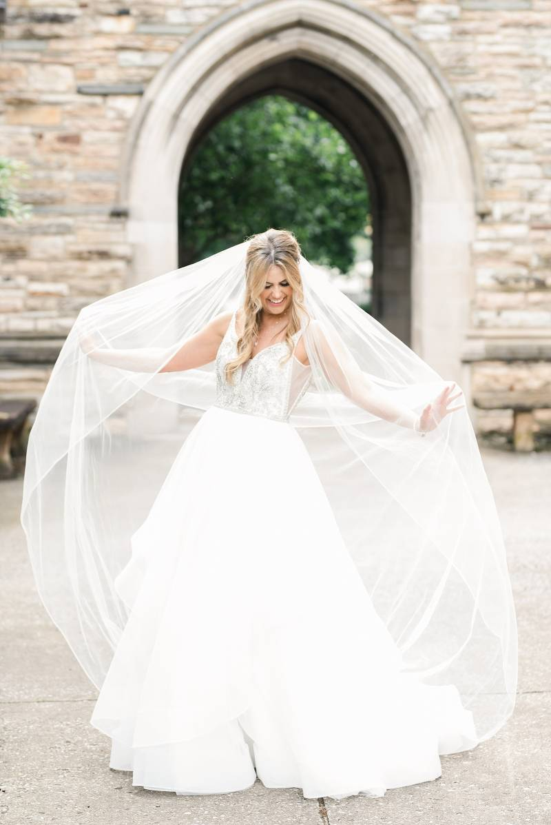 Bridal portrait: Bell Tower Wedding featured on Nashville Bride Guide