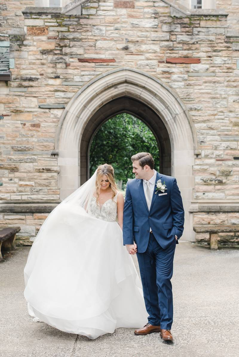 Creative wedding photos: Bell Tower Wedding featured on Nashville Bride Guide