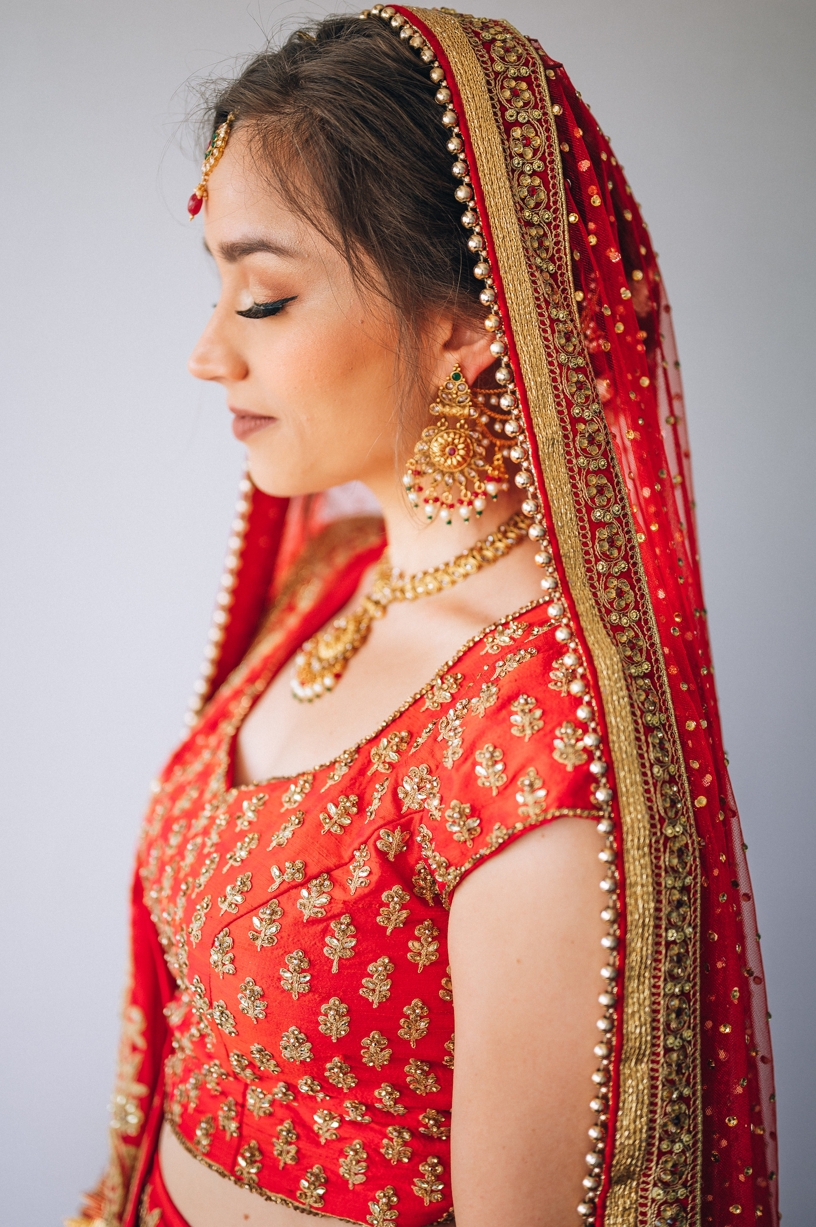 Bridal portrait: Charming Indian Wedding featured on NBG blog!