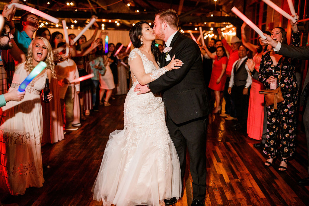 Wedding exit photography: Wedding at The Mill captured by John Myers Photography featured on Nashville Bride Guide