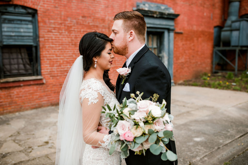 Wedding portrait: Wedding at The Mill captured by John Myers Photography featured on Nashville Bride Guide