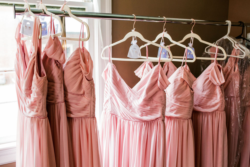 Pink bridesmaid dresses: Wedding at The Mill captured by John Myers Photography featured on Nashville Bride Guide