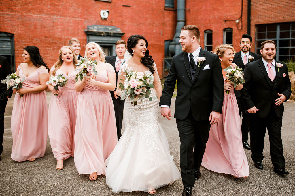 Wedding party photography: Wedding at The Mill captured by John Myers Photography featured on Nashville Bride Guide