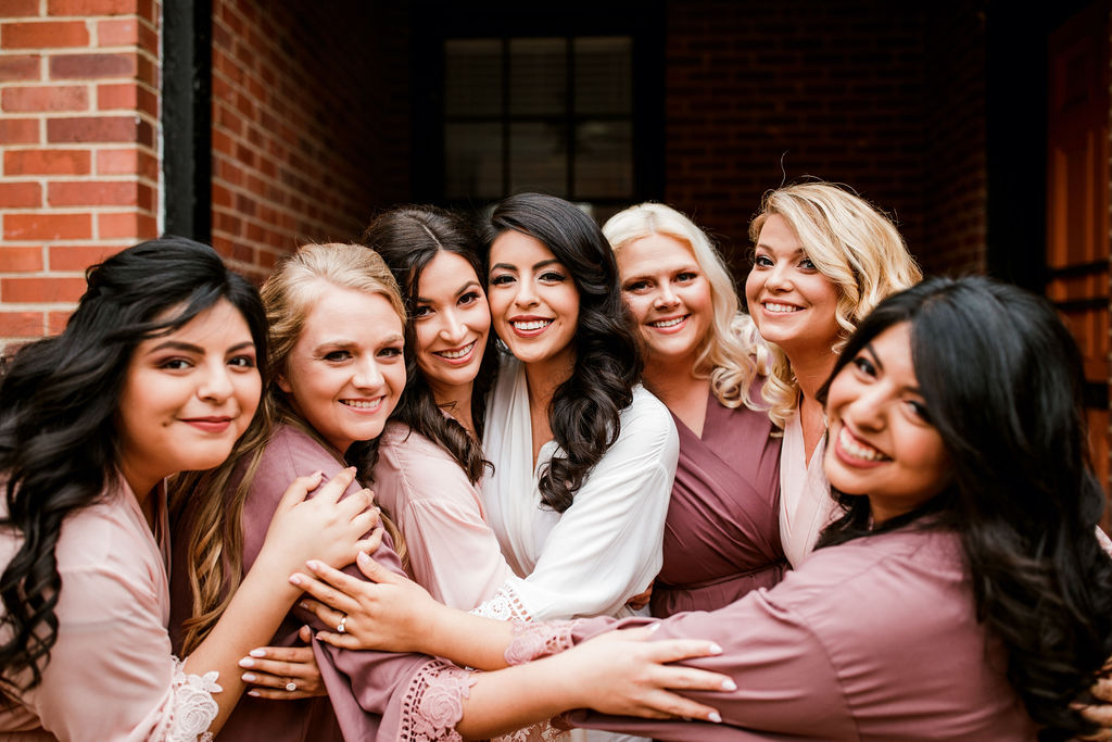 Bridesmaids getting ready: Wedding at The Mill captured by John Myers Photography featured on Nashville Bride Guide