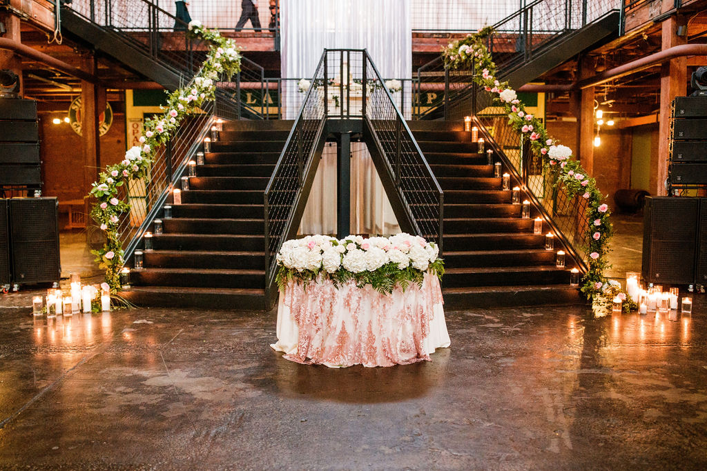Wedding reception entrance decor: Wedding at The Mill captured by John Myers Photography featured on Nashville Bride Guide