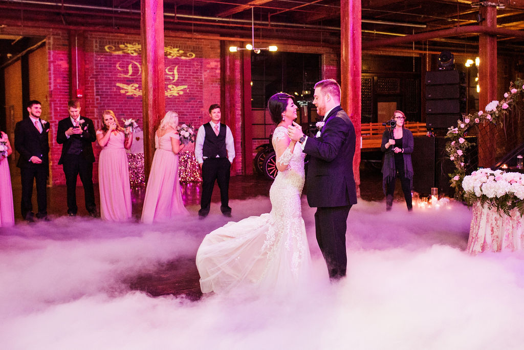 Wedding first dance: Wedding at The Mill captured by John Myers Photography featured on Nashville Bride Guide