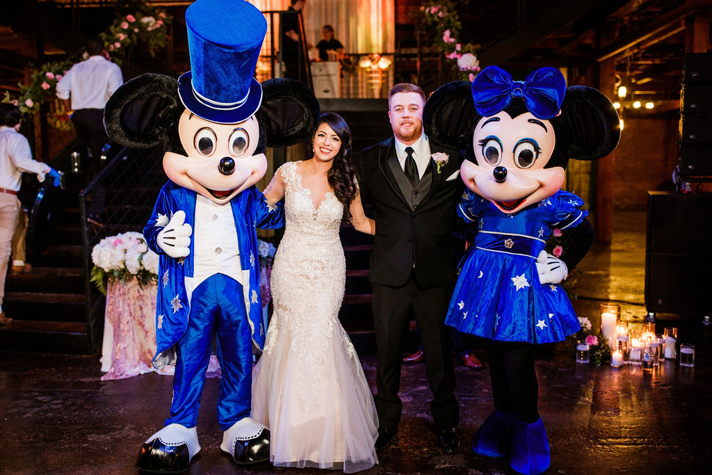Mickey and Minnie at wedding: Wedding at The Mill captured by John Myers Photography featured on Nashville Bride Guide