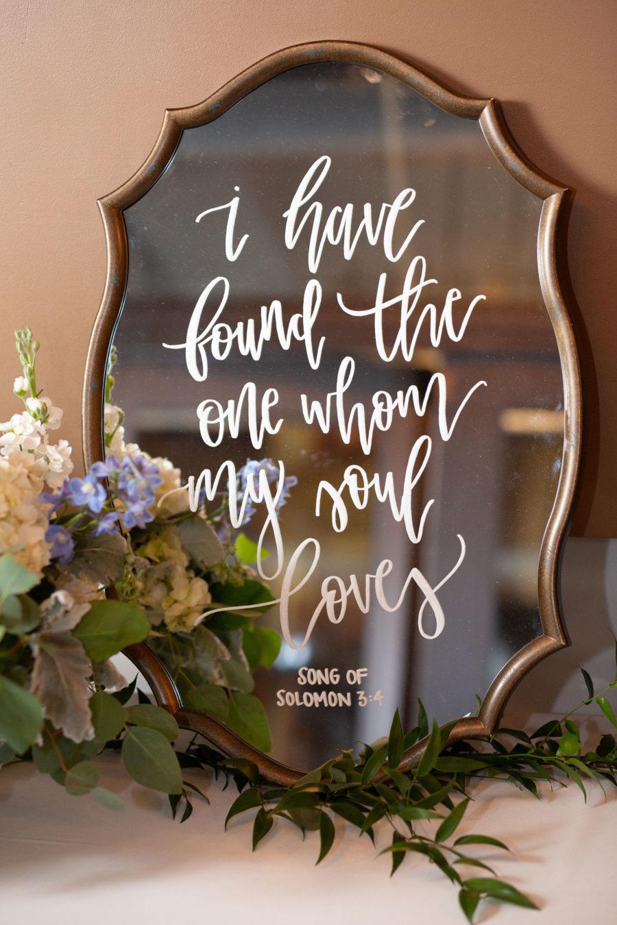 Wedding sign: Bell Tower Wedding featured on Nashville Bride Guide