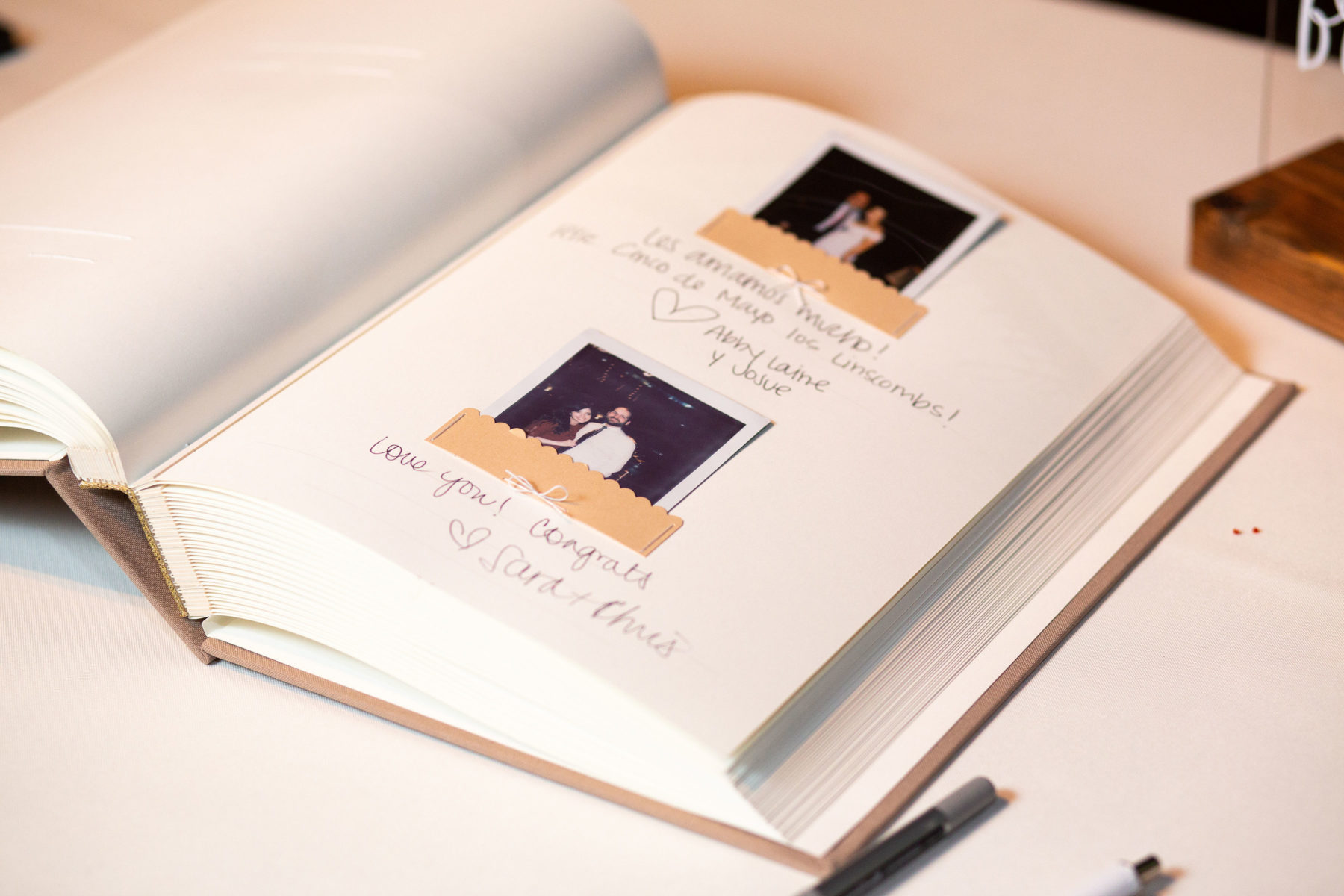 Wedding polaroid guestbook: Bell Tower Wedding featured on Nashville Bride Guide