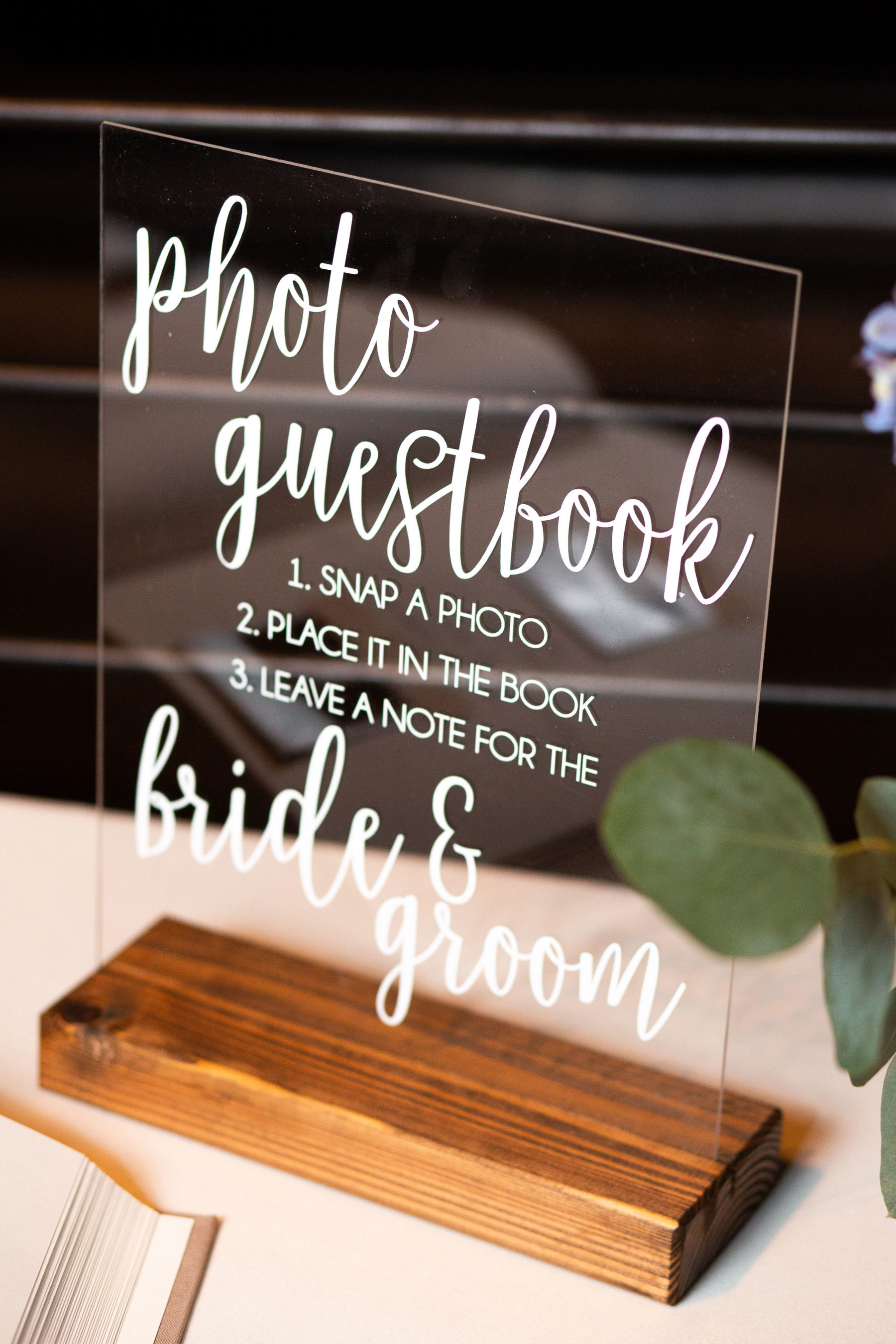 Wedding guestbook sign: Bell Tower Wedding featured on Nashville Bride Guide
