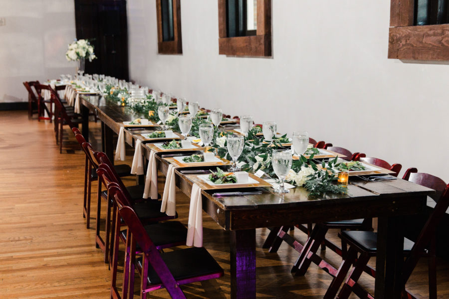 Wedding tablescape: Bell Tower Wedding featured on Nashville Bride Guide