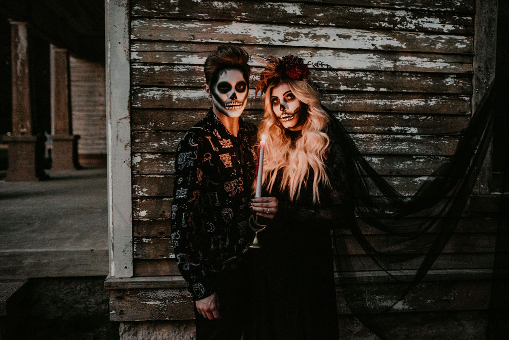 Halloween inspired wedding styled shoot featured on Nashville Bride Guide!