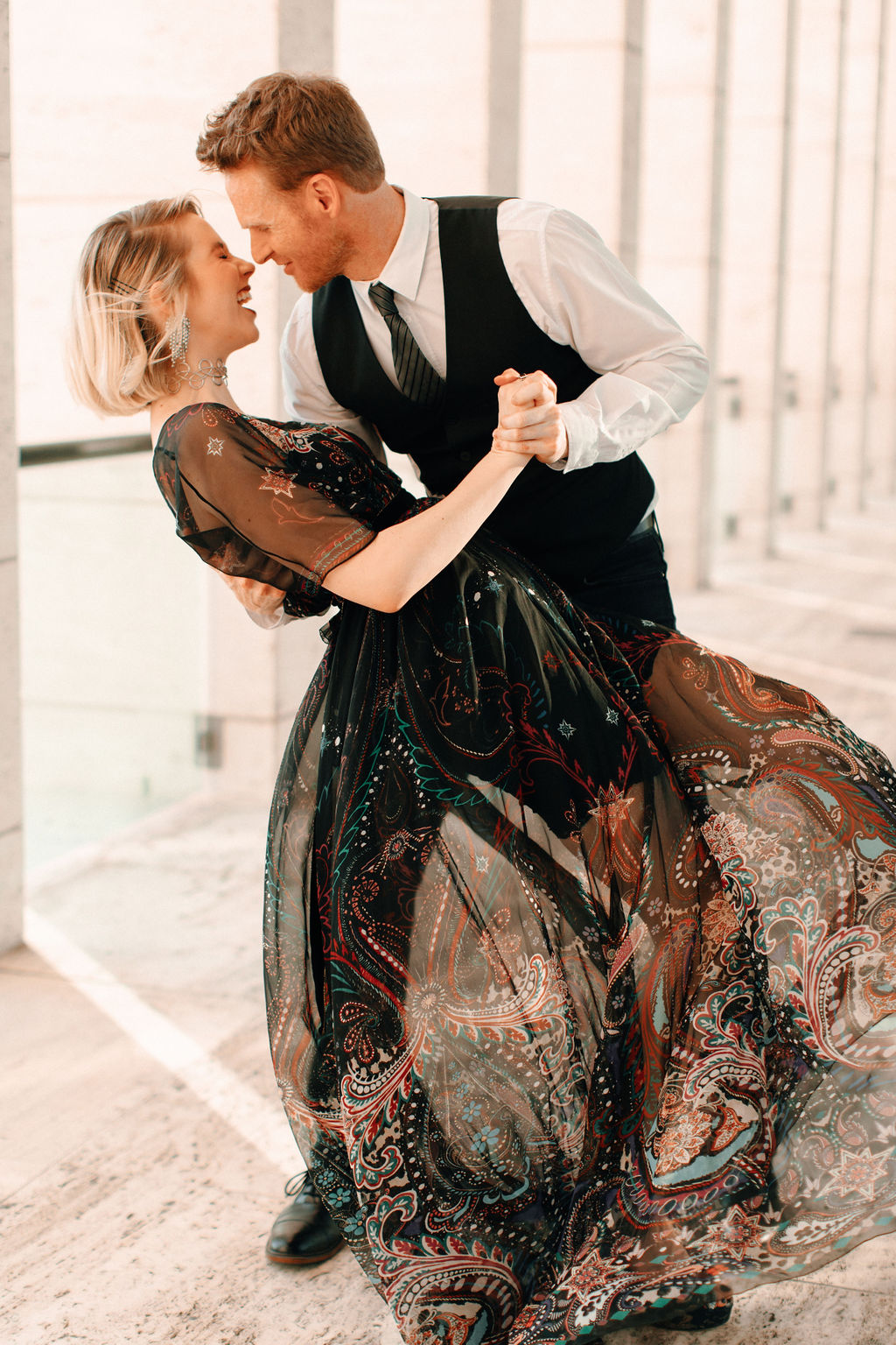 Modern, romantic engagement session featured on Nashville Bride Guide