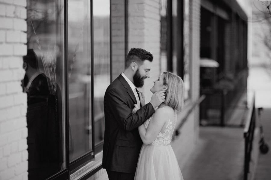 Black and White Wedding Photography: Nashville brunch elopement featured on Nashville Bride Guide