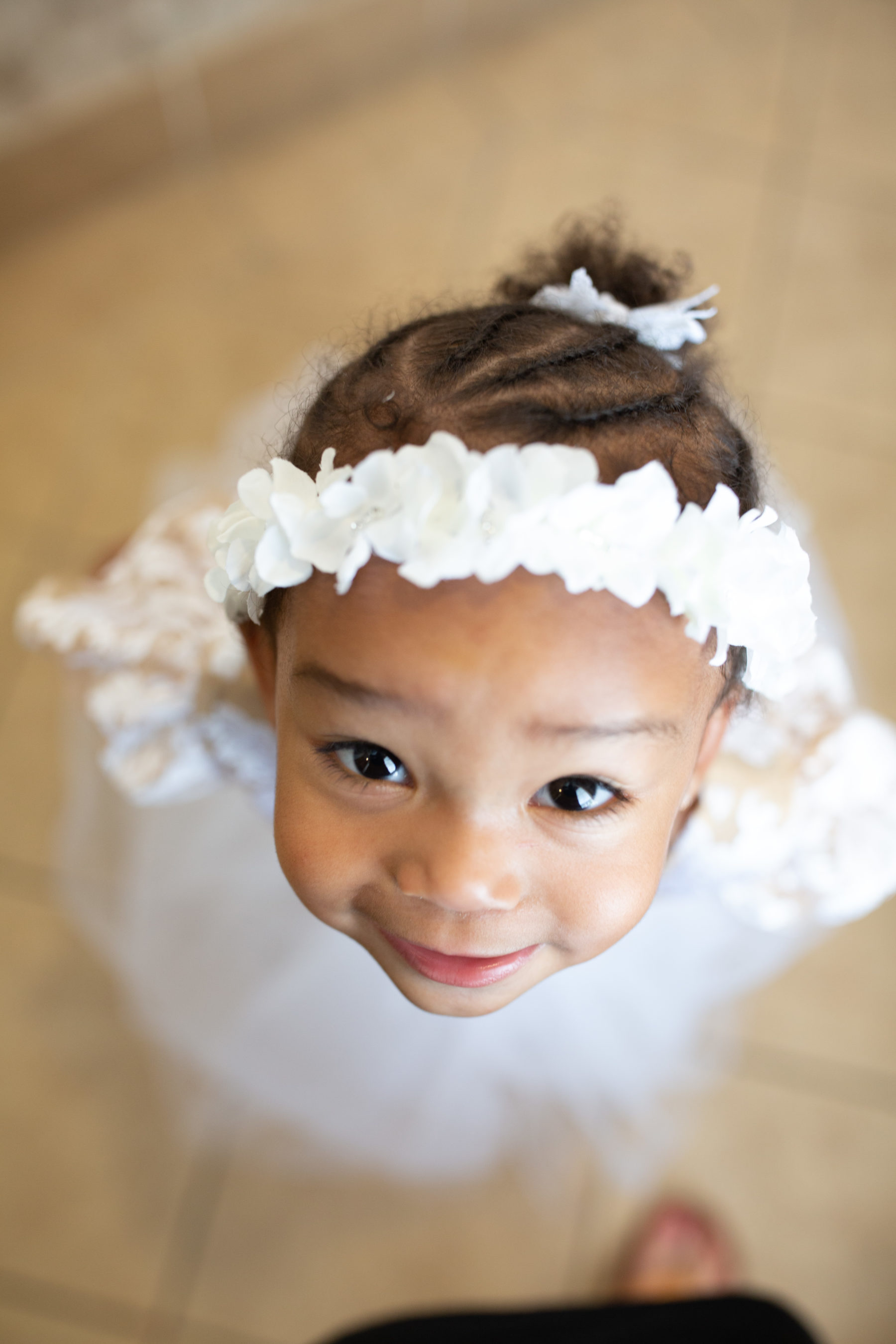 Flower girl portrait: Luxurious Stone Rivers Country Club Wedding featured on Nashville Bride Guide