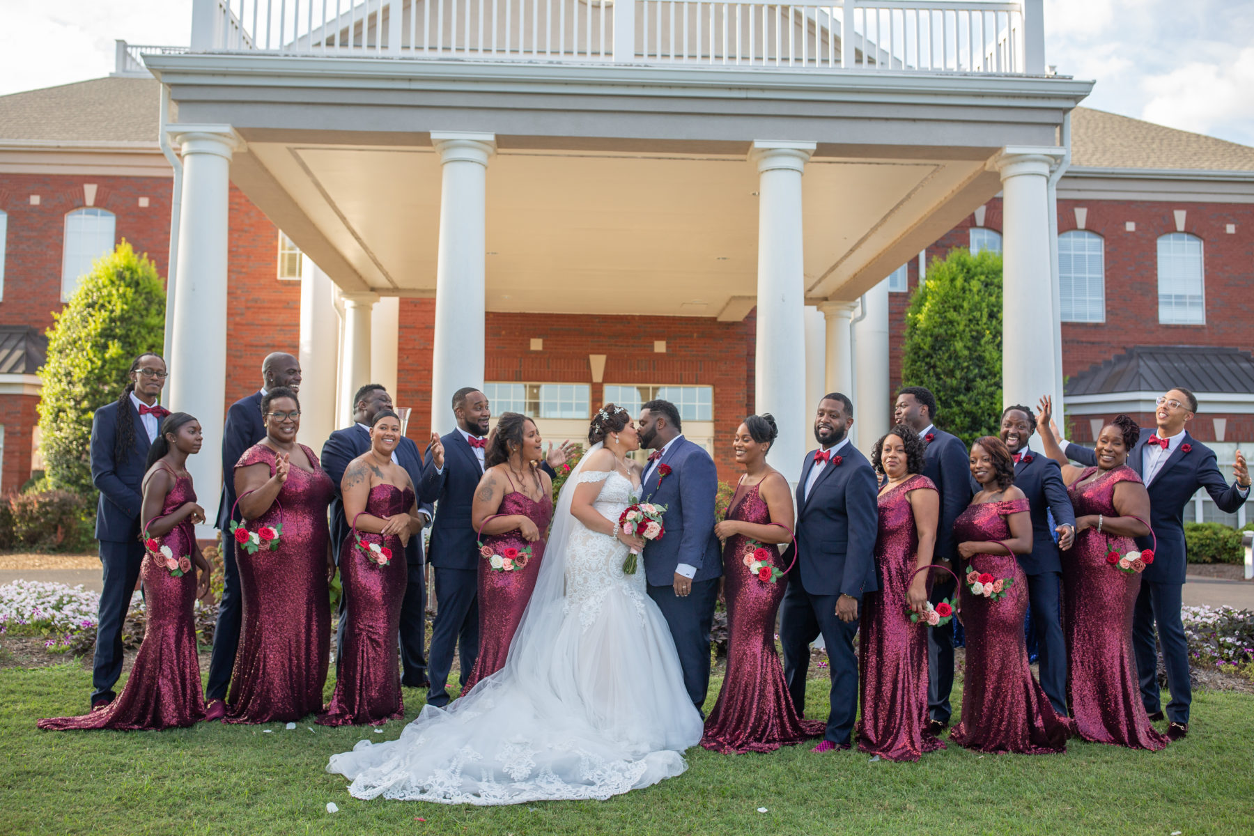 Navy and burgundy wedding: Luxurious Stone Rivers Country Club Wedding featured on Nashville Bride Guide