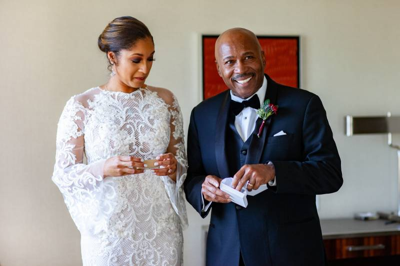 Father of the Bride with bride: Downtown Hilton Nashville wedding captured by Sharon Theresa Wheaton Photography featured on Nashville Bride Guide