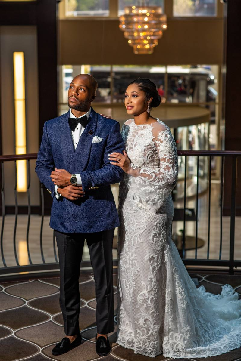 Romantic wedding photography: Downtown Hilton Nashville wedding captured by Sharon Theresa Wheaton Photography featured on Nashville Bride Guide