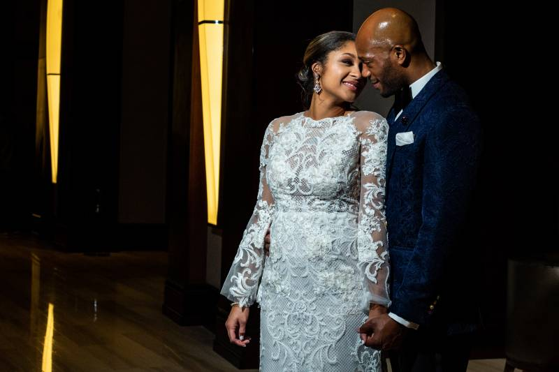 Wedding portrait: Downtown Hilton Nashville wedding captured by Sharon Theresa Wheaton Photography featured on Nashville Bride Guide