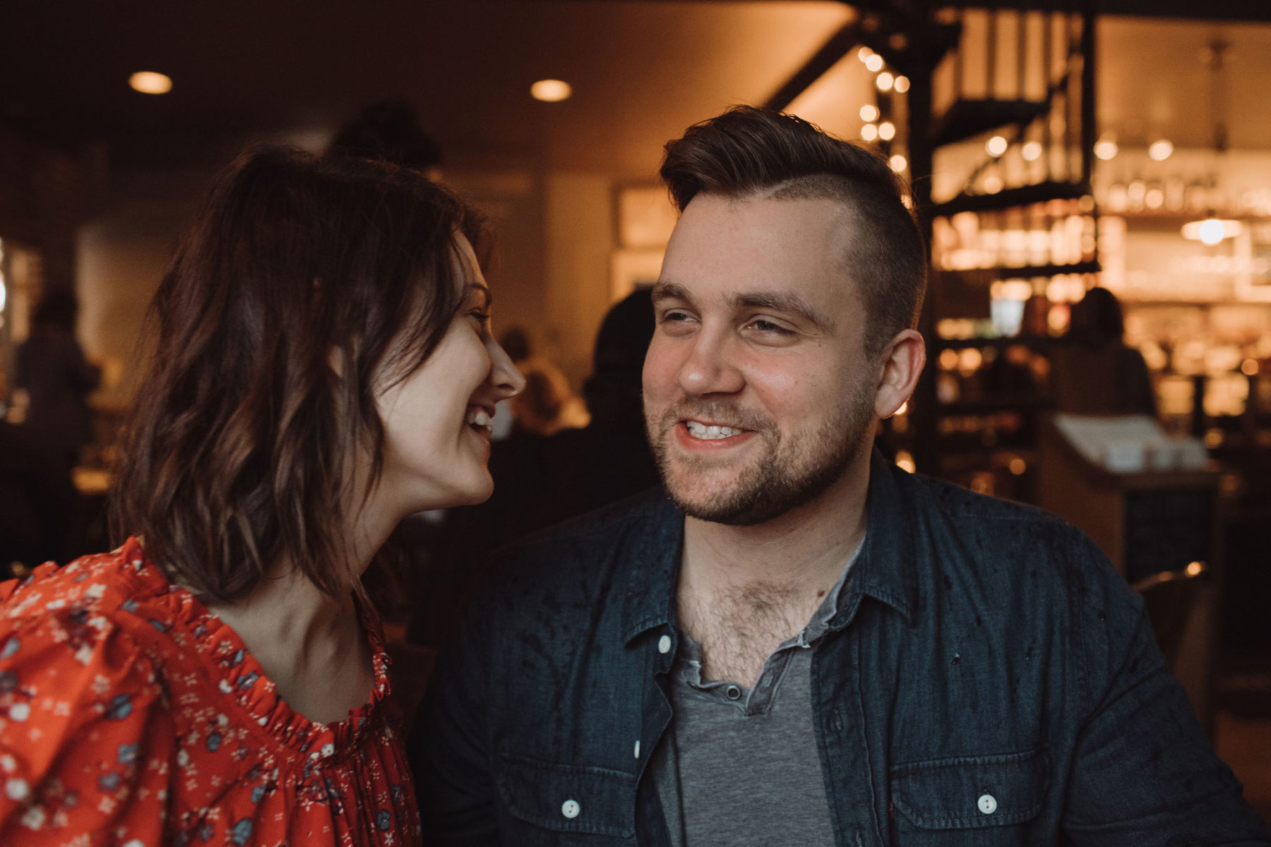 Frothy Monkey coffee shop engagement session captured by Fancy Pants Weddings Photography. See more engagement session ideas on Nashville Bride Guide!
