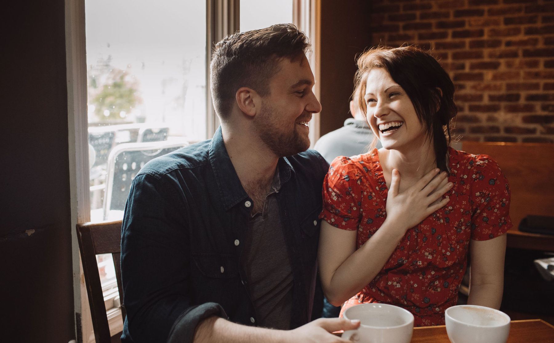 Coffee shop engagement session featured on Nashville Bride Guide