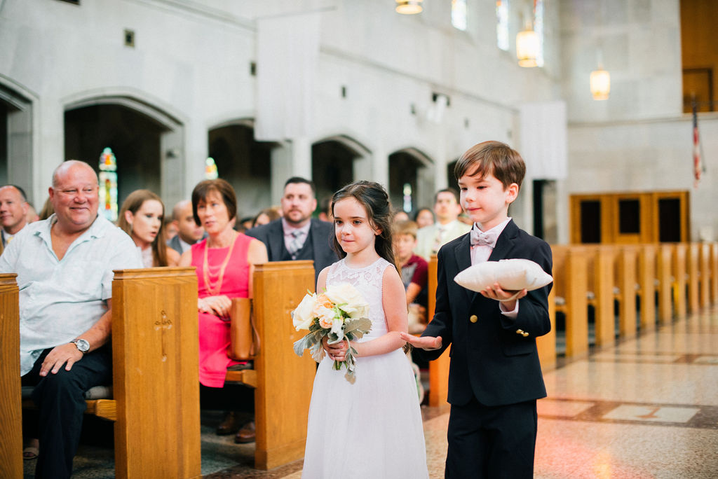 Flower girl and ring bearer: Intimate Wedding Celebration by Details Nashville