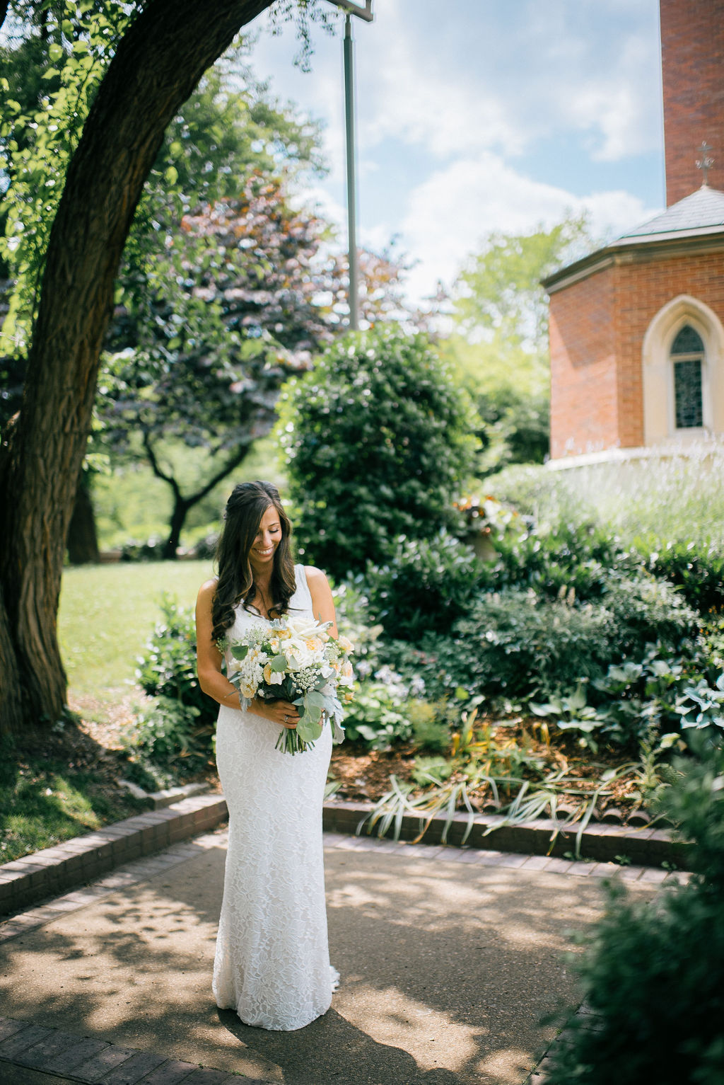 Bridal portrait captured at intimate Nashville wedding