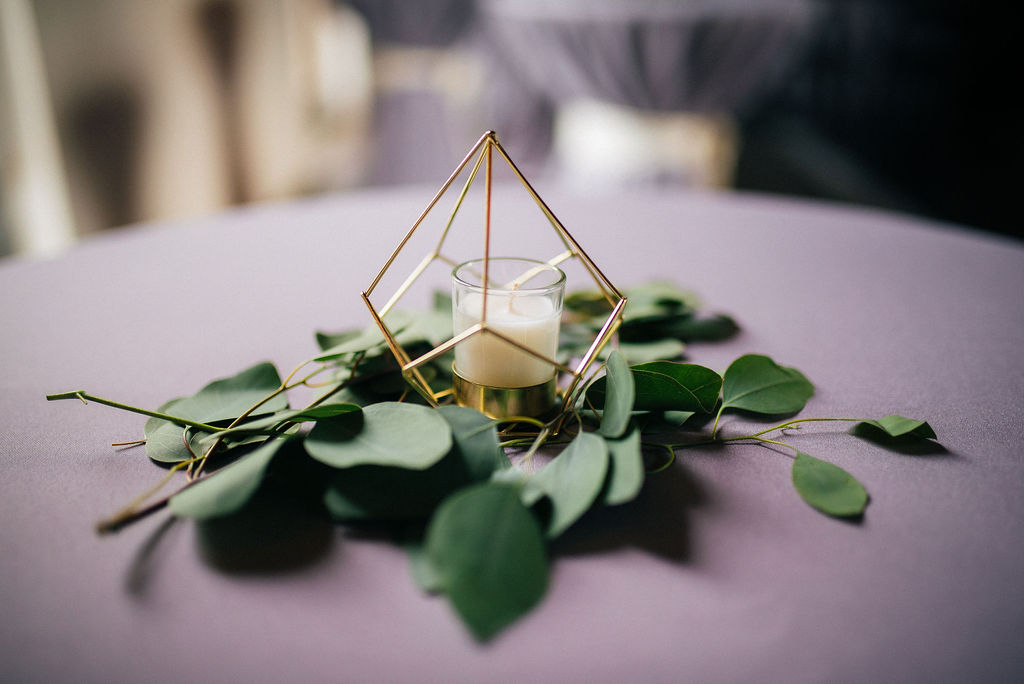 Geometric wedding centerpieces captured by Details Nashville