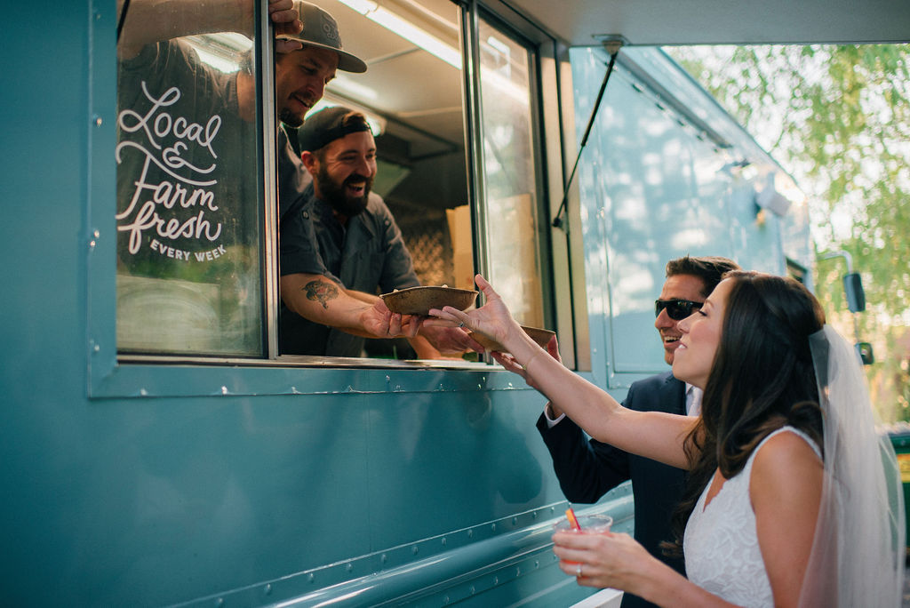 Califarmia wedding food truck catering for Nashville wedding