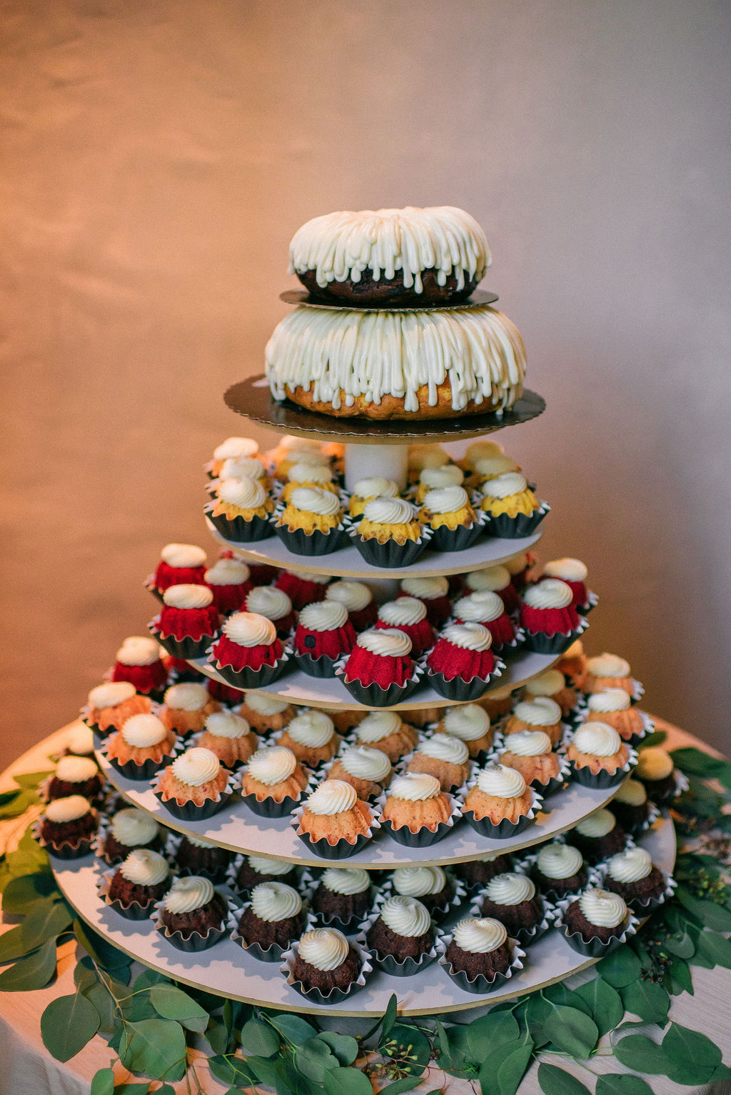 Nothing Bundt cakes wedding cake for Nashville wedding featured on Nashville Bride Guide
