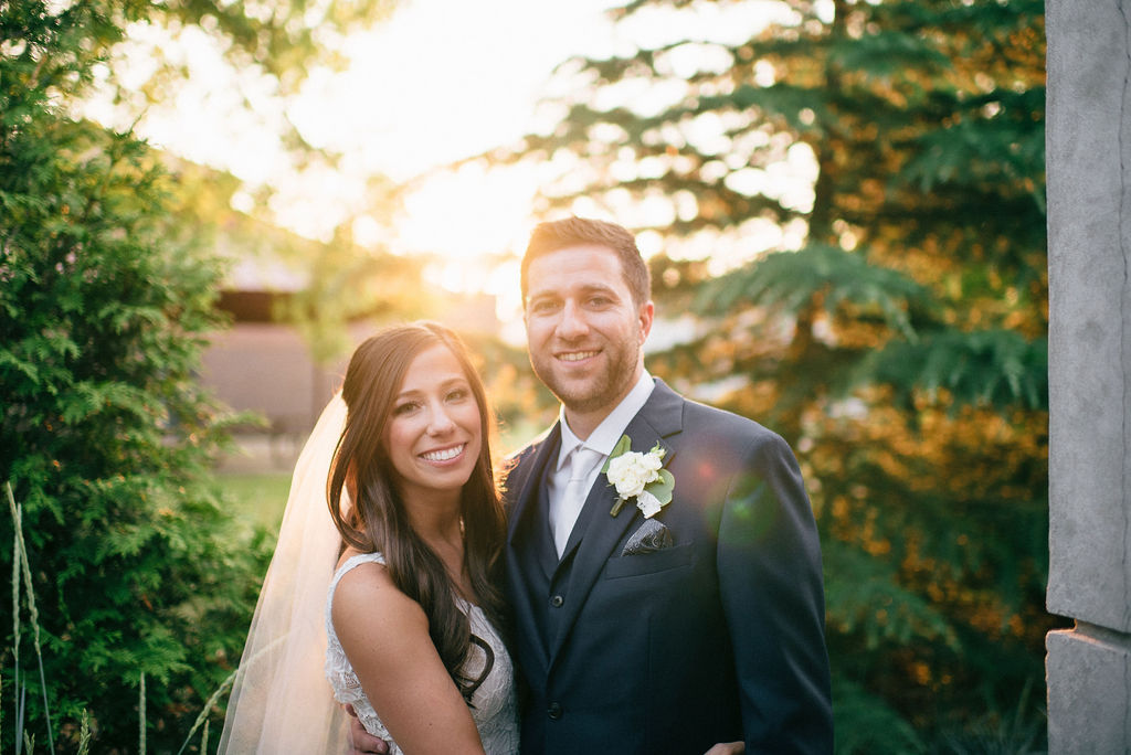Sunset wedding photos for Intimate Nashville wedding