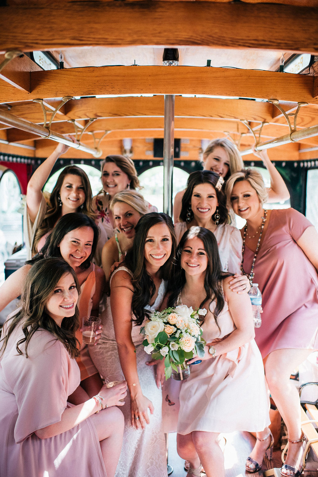 Pink bridesmaids dresses: Intimate Wedding Celebration by Details Nashville