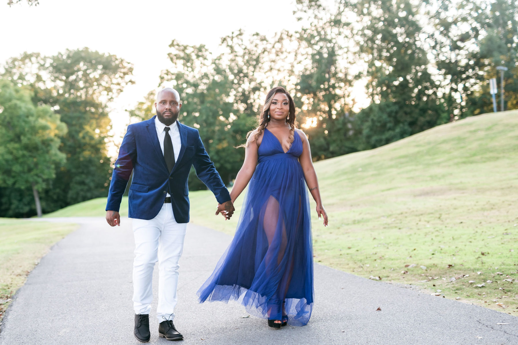 Five Oaks Golf & Country Club engagement session featured on Nashville Bride Guide!
