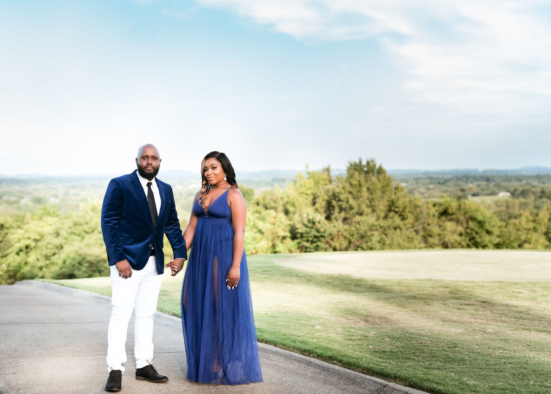 Five Oaks Golf & Country Club engagement session by JAO Photography featured on Nashville Bride Guide!