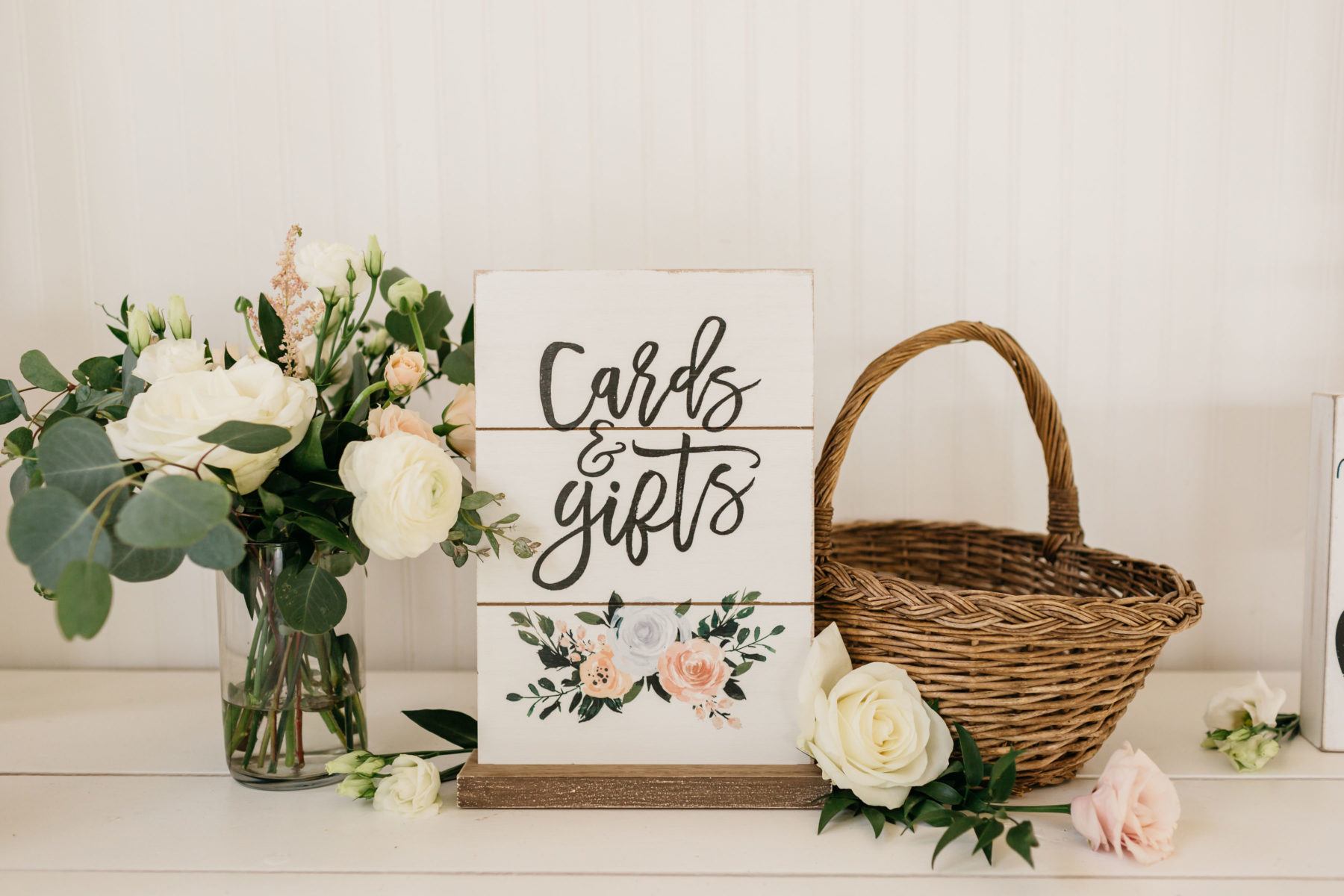 Wedding gift sign: Rustic Front Porch Farms wedding featured on Nashville Bride Guide