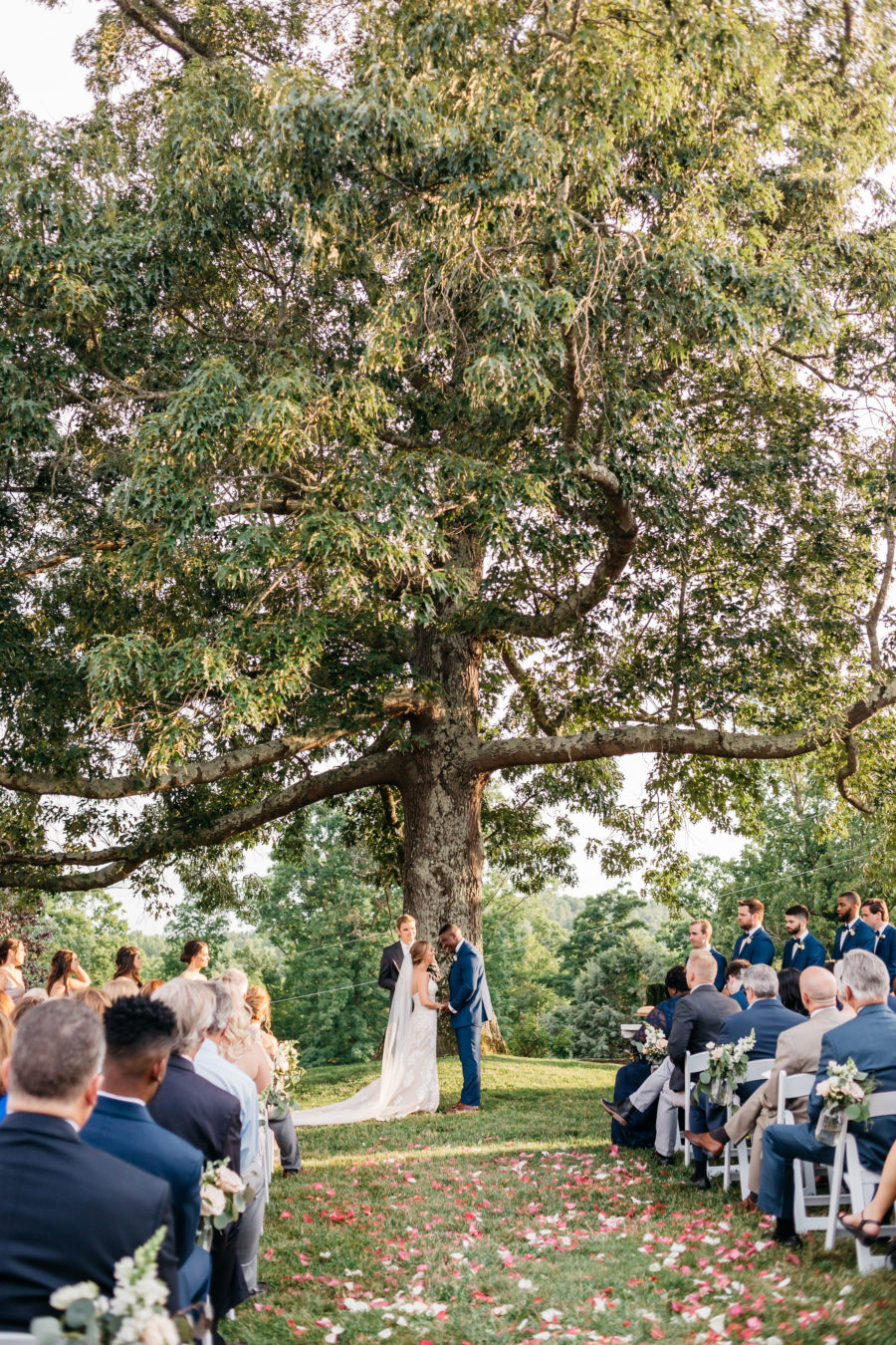 Outdoor wedding ceremony inspiration: Rustic Front Porch Farms wedding featured on Nashville Bride Guide