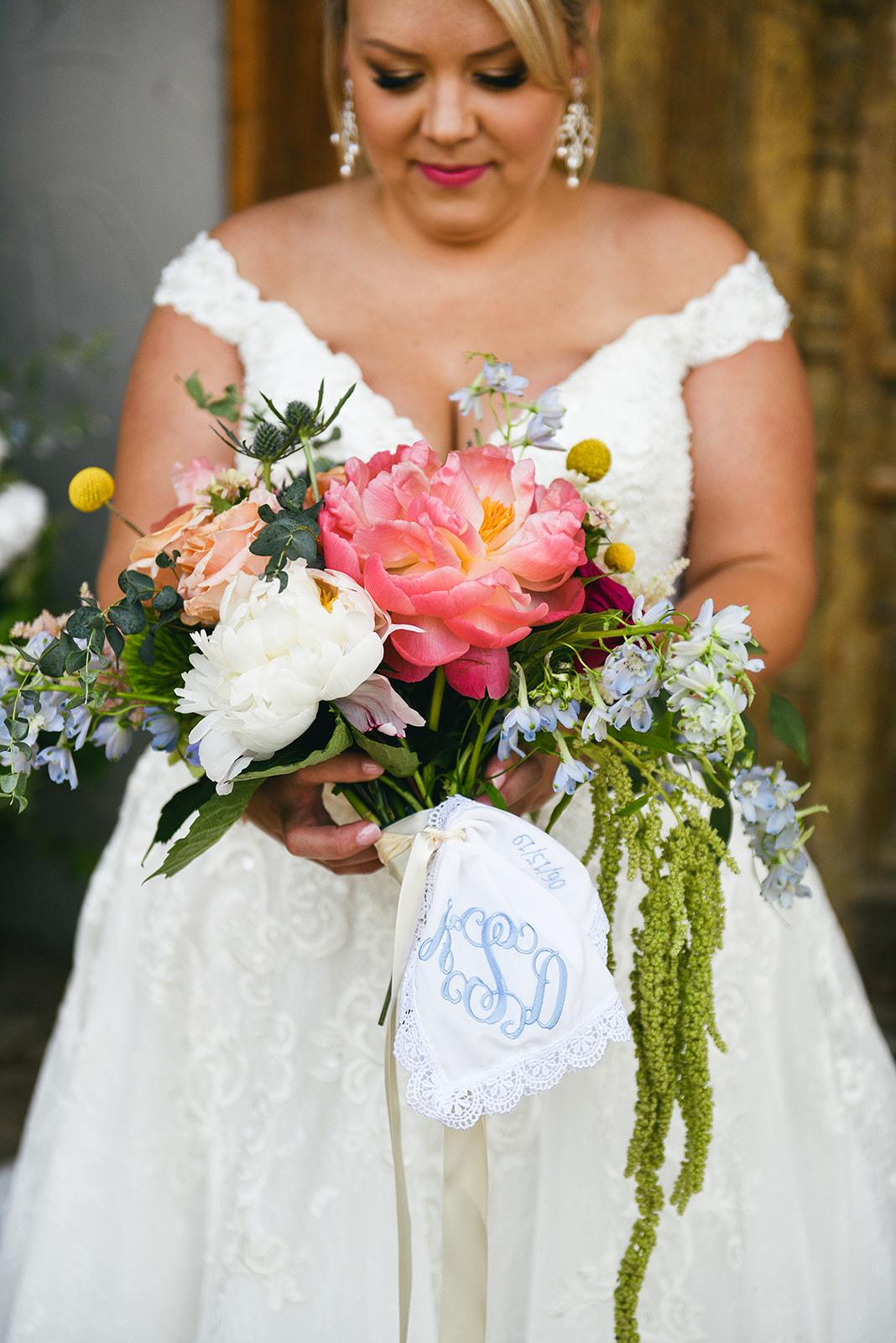 Pink peony wedding bouquet: Elegant Cason Cove Wedding featured on Nashville Bride Guide