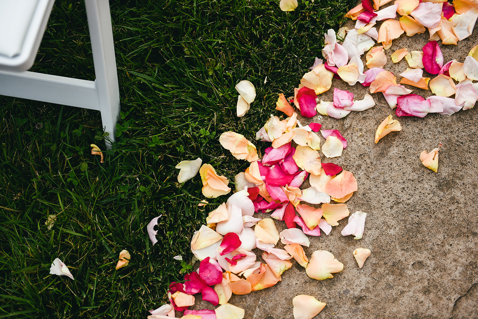 Flower petals: Elegant Cason Cove Wedding featured on Nashville Bride Guide